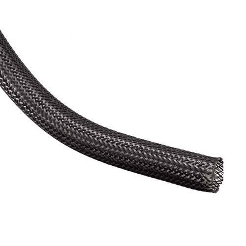 ryton expandable braided sleeving in black - icon