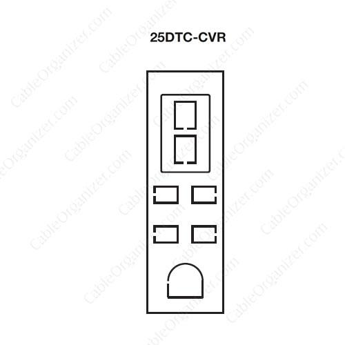 Wiremold Power Pole SRPP-25DTC-CVR