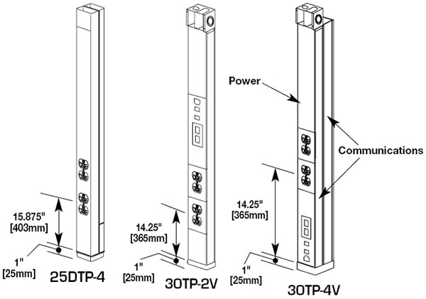 tele-power pole drawings