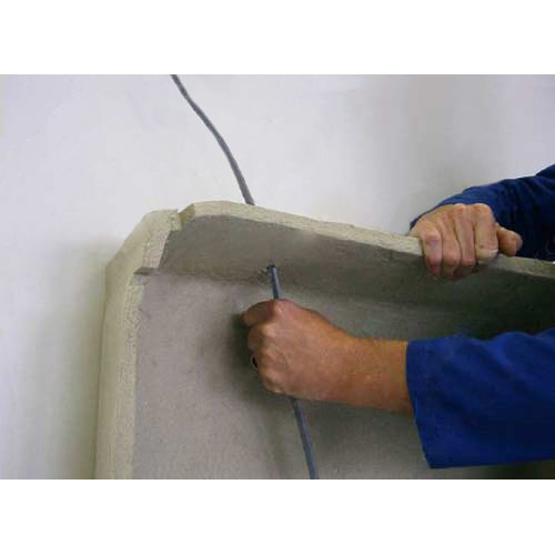 pulling a cable through troffer cover - icon
