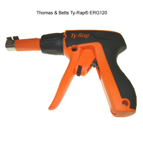 side view of thomas and betts ty-rap erg120 cable tie tool icon