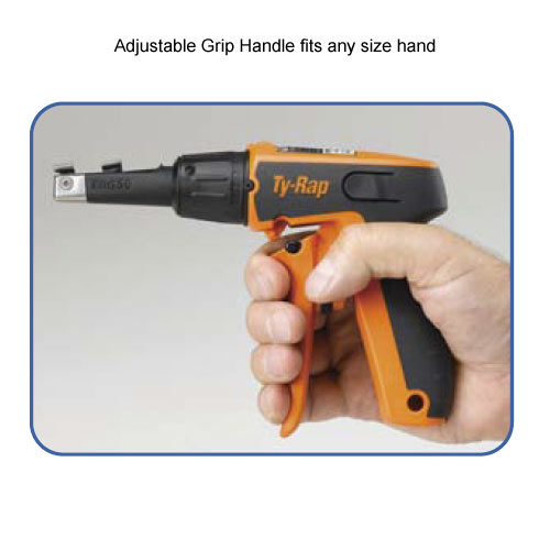 thomas and betts ty-rap cable tie tool with adjustable grip handle icon