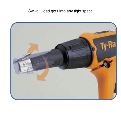 close up of thomas and betts ty-rap cable tie tool swivel head icon