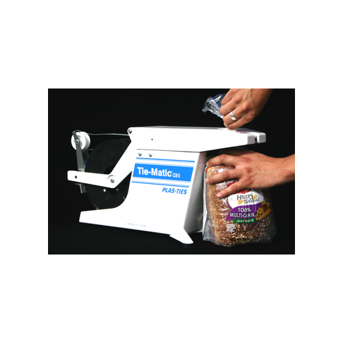 closing a loaf of bread package with a Tie-Matic