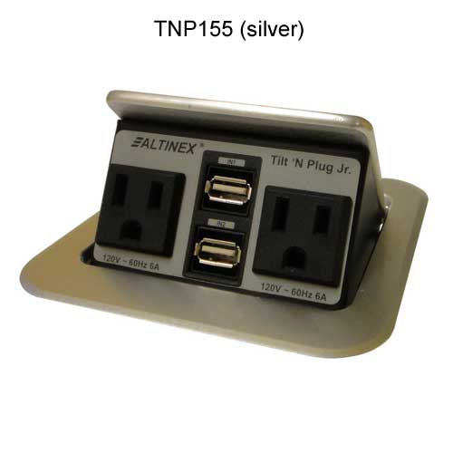 Tilt 'N Plug Jr.™ Customizable Tabletop Outlet Center PDC-TNP155