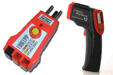 Triplett electrical and temp testers