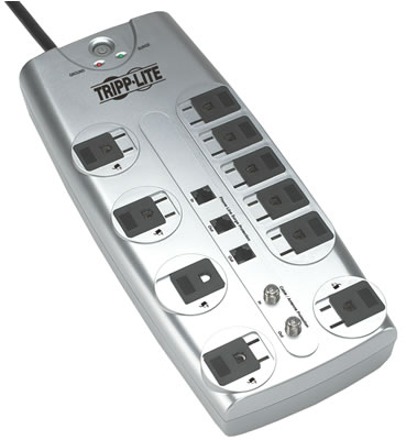 Tripp-Lite Surge Suppressors for Home or Office  TL-TLP1008TELTV
