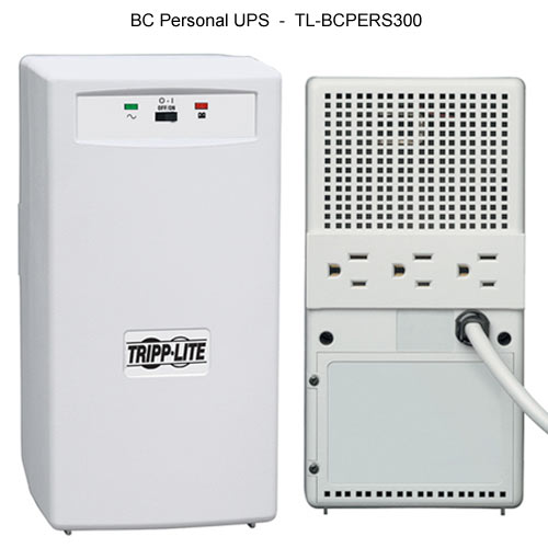 front and back view of Tripp Lite BC Personal UPS model 300 icon