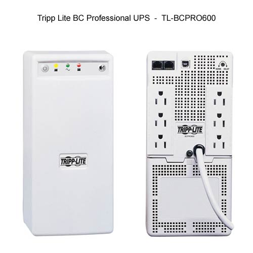 front and back view of Tripp-Lite BC Professional UPS model 600 icon