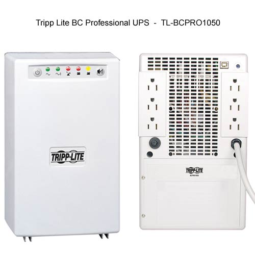 front and back view of Tripp-Lite BC Professional UPS model 1050 icon