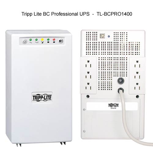 front and back view of Tripp-Lite BC Professional UPS model 1400 icon