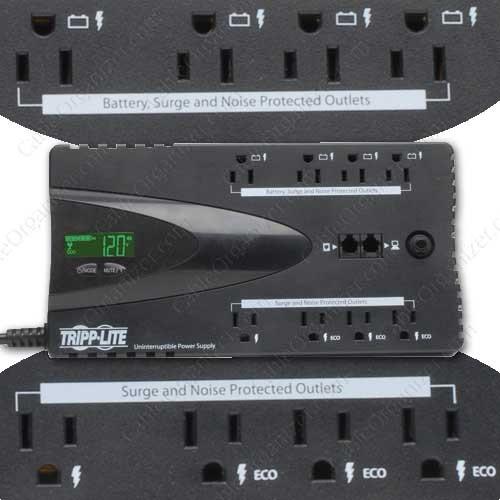 Tripp Lite ECO650LCD closeup of plugs - icon