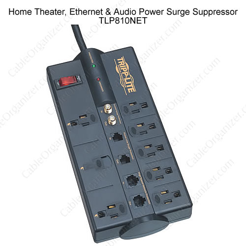 Home Theater, Ethernet and Audio Power Surge Suppressor