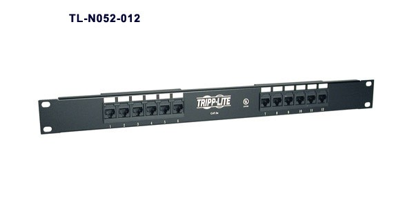 Tripp Lite SmartRack Premium Enclosure Accessory 12 port patch panel part n052-012 -icon