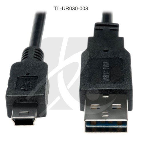 Tripp-Lite Reversible USB A-Male to 5Pin Mini-B Male Cable Straight - icon
