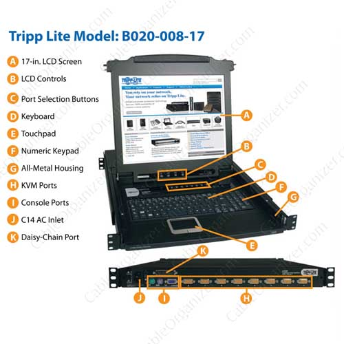 NetDirector 8-port console KVM switch details - icon