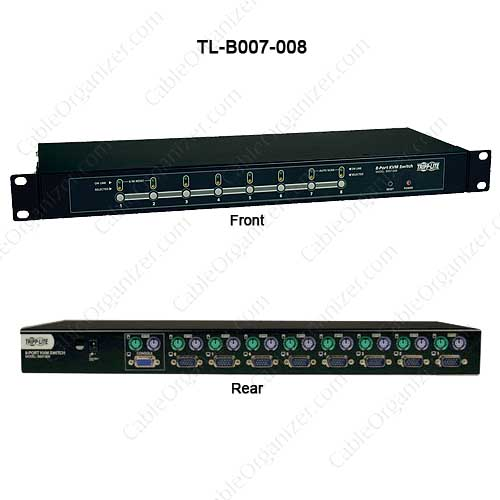 8-Port 1U Rackmount KVM Switch # TL-B007-008