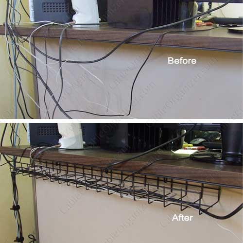Under Desk Cable Tray Before and After - icon