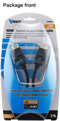 vanco Swivel HDMI Audio Video Cable package front - icon