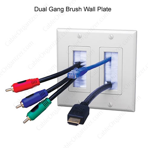 Dual Gang Brush Wall Plate