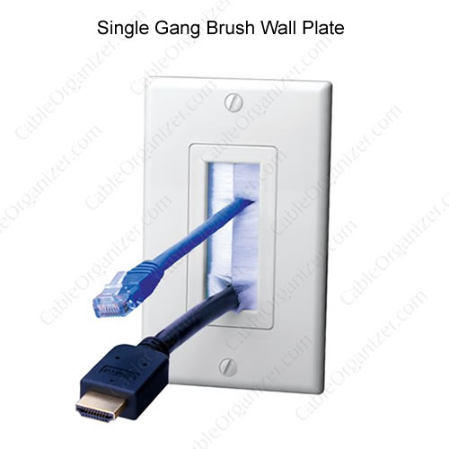 Single Gang Brush vanco Wall Plate