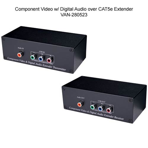 front view of Vanco Component Video Over Cat 5e Extender - icon