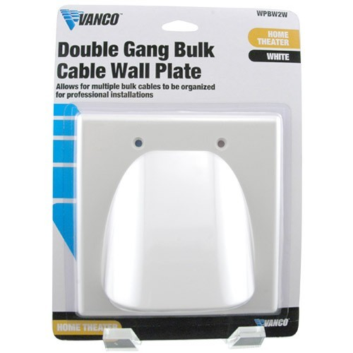 Vanco Flat Panel TV two gang Wall Plate in package - icon