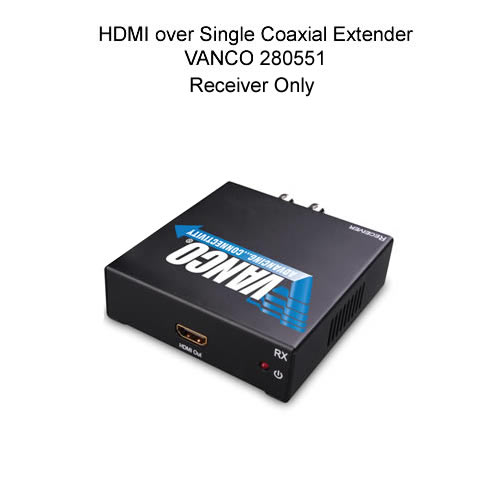 HDMI single coaxial extender input - icon