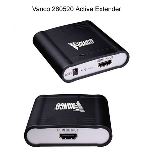 front and rear view of Vanco HDMI active Cable Extender - icon