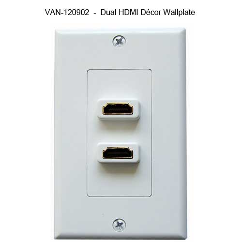 Vanco HDMI Slim Line Wall Plate with hdmi adapter - icon