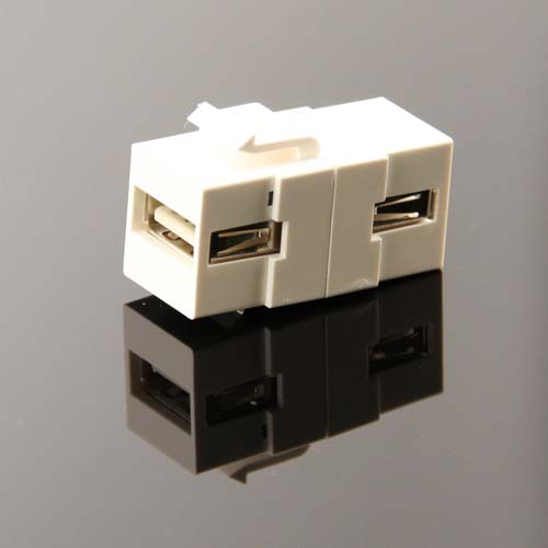 angled view of Vanco USB Keystone Adapter Insert - icon