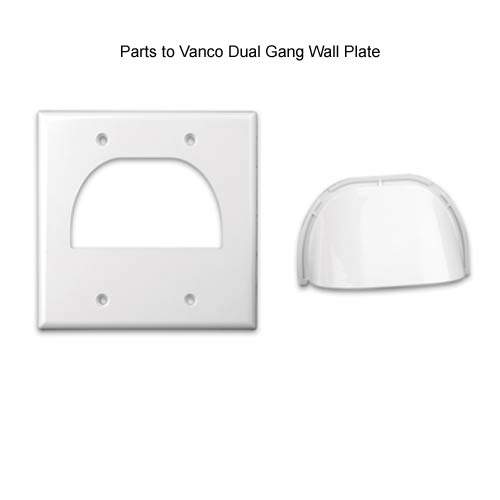 parts to Vanco dual Gang 2 piece Wall Plate icon