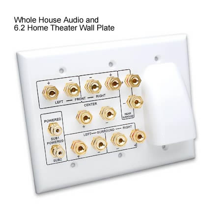 front view of VANCO 6.2 Whole House Audio Home Theater Wall Plate - icon