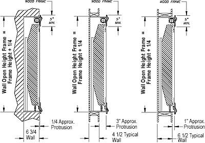 various artscreen recessed installation specifications