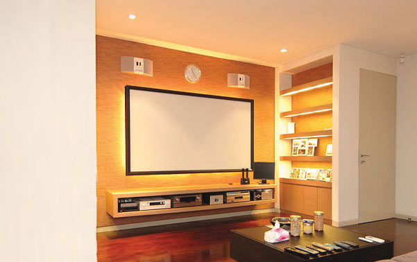 Vutec VU-EASY Tensioned Video Projection Screen installed - icon