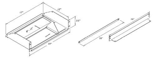 adjustable shelf drawing dimensions