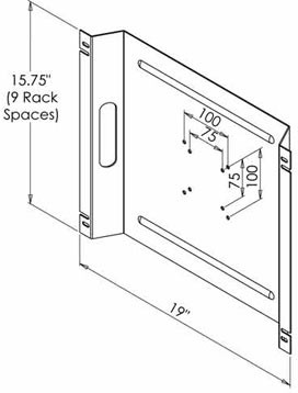 LCD Monitor Rack Mount Dimensions