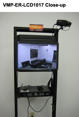 close up of vmp Universal LCD Monitor Rack Mount in use in rack - icon