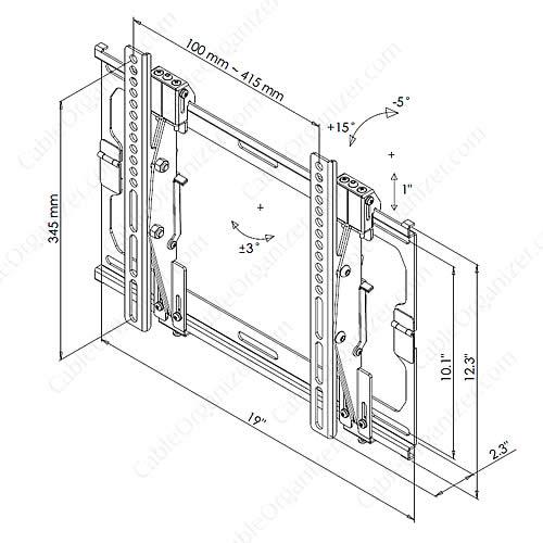 flat panel flush mount drawing - icon