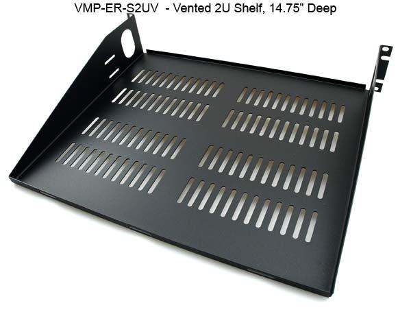 universal economy 2u vented deep rackmount shelf icon