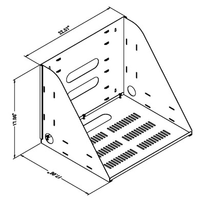 drawing of wall-mounted shelf, VWS