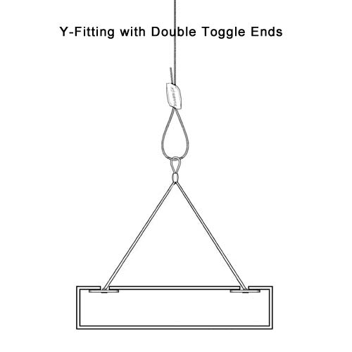 Pro-Hanger Tray System, Y-Fitting with Double Toggle Ends - icon