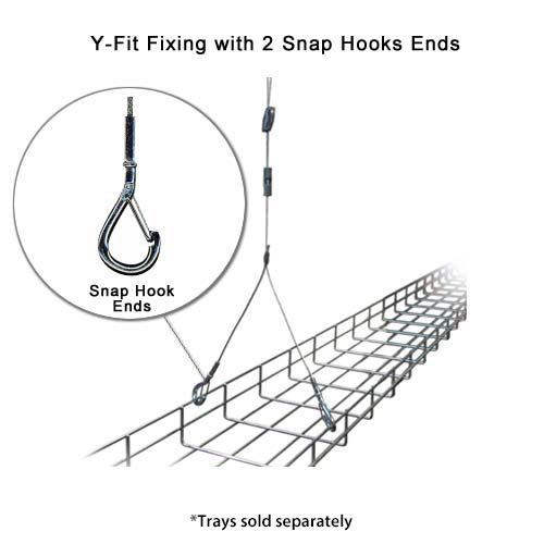 Pro-Hanger Tray System, Y-Fit Fixing with 2 Snaps Hooks Ends - icon