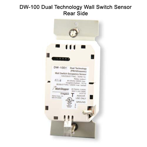 Watt Stopper dual technology wall switch sensor, rear view without wall plate - icon
