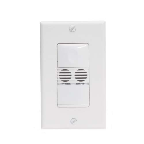 Watt Stopper dual technology wall switch sensor, front view with wallplate - icon