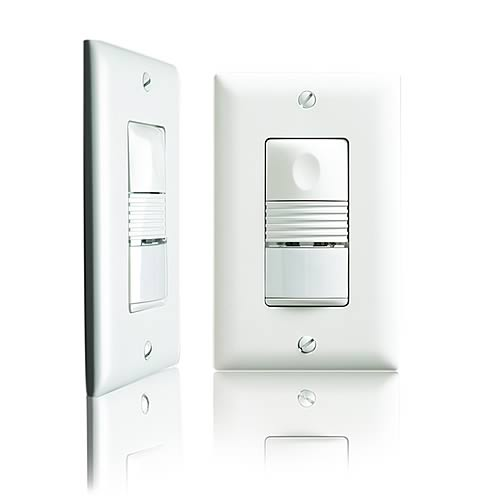 Watt Stopper passive infrared wall switch sensor, front and side view - icon