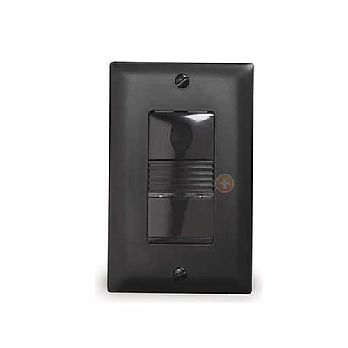 Watt Stopper passive infrared wall switch sensor, black front view - icon