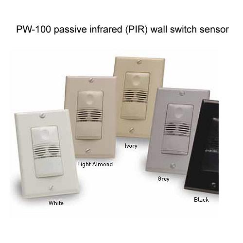 Watt Stopper passive infrared wall switch sensor, black, white, light almond, ivory, gray - icon
