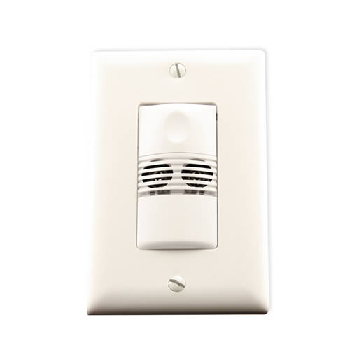 Watt Stopper ultrasonic wall switch sensor, angled view with wall plate - icon