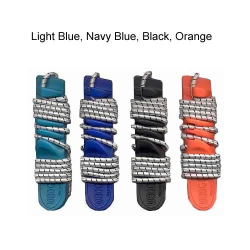 The Wedgee Organizer in light blue, navy blue, black, orange icon
